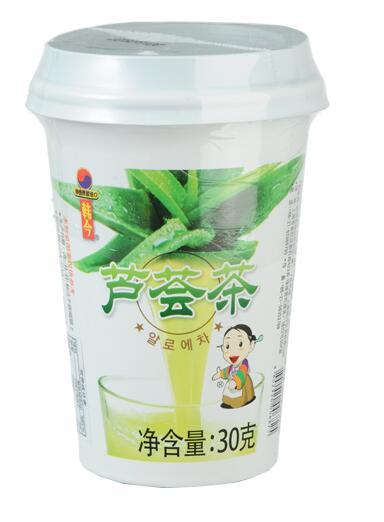 韩今杯装蜂蜜芦荟茶