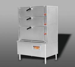 电热三门海鲜蒸柜