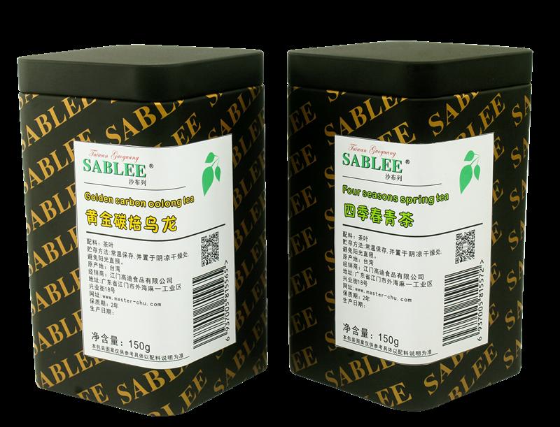 黄金碳焙乌龙and四季春青茶