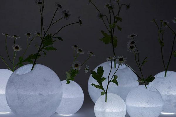 【桌面用品之花瓶设计】雕塑质感的月亮花瓶与气球花瓶