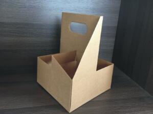 鑫麦佳烘焙纸盒 瓦楞四联杯托