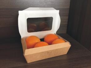 鑫麦佳烘焙纸盒 开窗牛卡纸盒