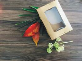 鑫麦佳烘焙纸盒  天窗沙拉盒