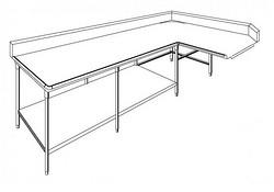 L型清潔工作台 / 下層板