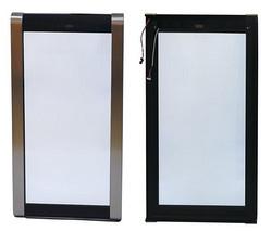 不锈钢外观圆弧边框酒柜玻璃门