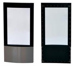 圆弧玻璃不锈钢外观发泡酒柜玻璃门