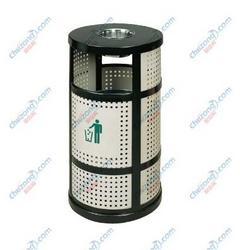 【骏逸户外垃圾桶】不锈钢冲孔垃圾桶 时尚简约户外垃圾箱