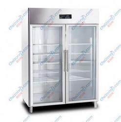 【科瑞森双玻璃门冷藏柜】双门冷藏展示柜