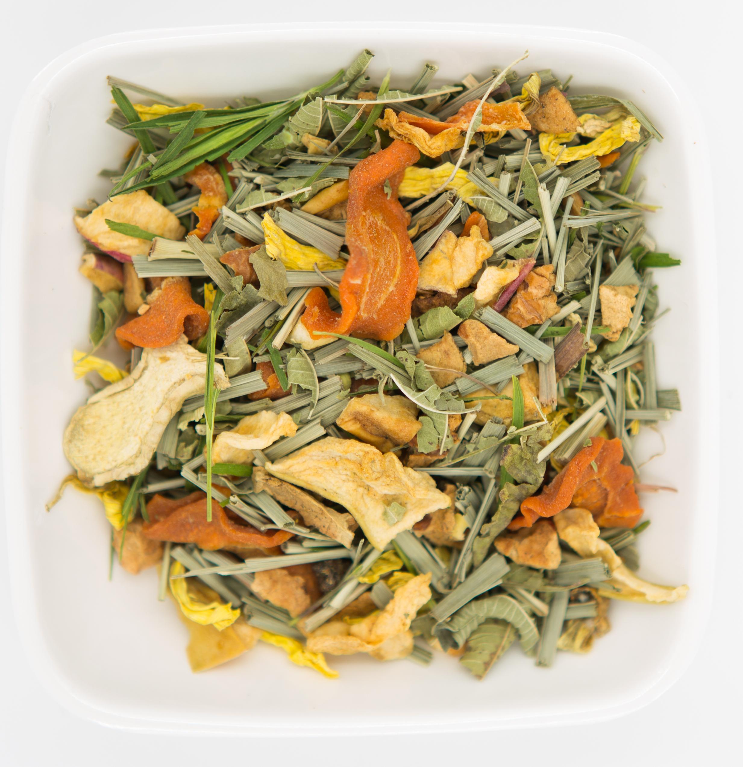 柠檬草干姜水果茶