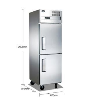 立式两门插盘冷柜