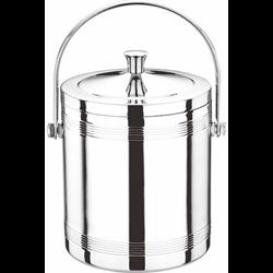 (直型)不锈钢双层冰粒桶(带手提)