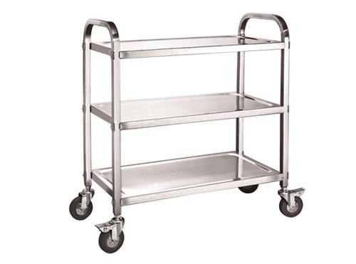 拆装式不锈钢三层方管餐车