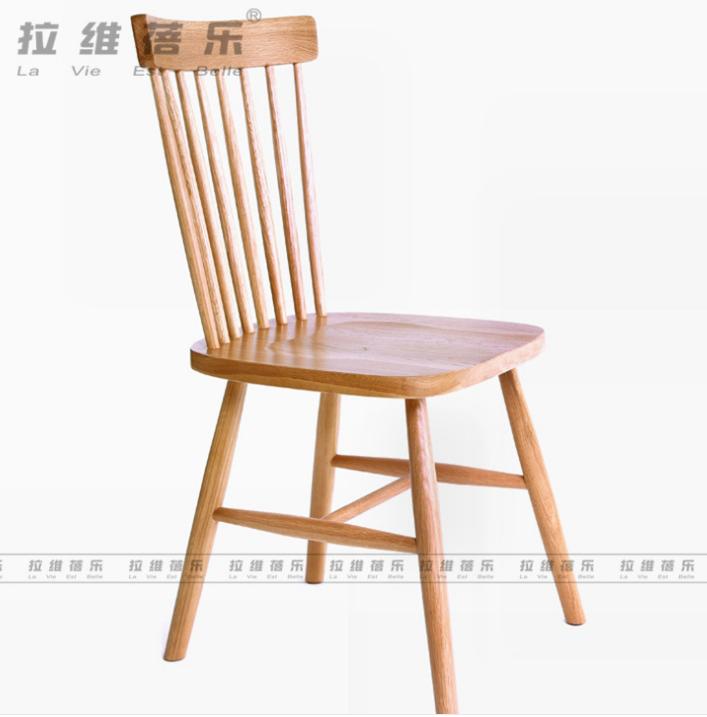 咖啡温莎椅