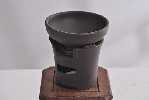 黑陶土炉型茶漏