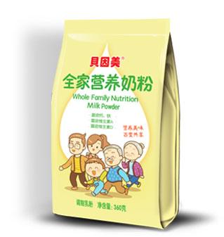 贝因美全家营养甜奶粉