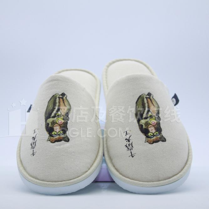 天然棉麻拖鞋