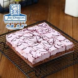 蓝莓小方慕斯蛋糕