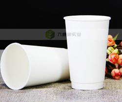 一次性中空双层咖啡杯隔热杯