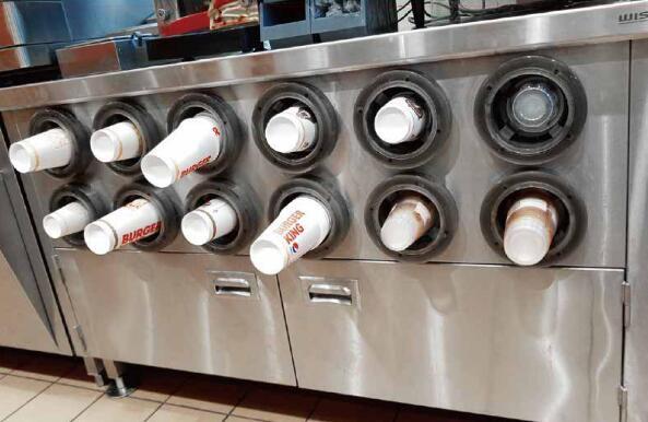 可调式杯桶分配器