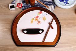 半月餐盘 日本漆器