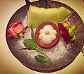 雪花锅 沙拉水果碟 火锅