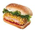 玉米片虾堡