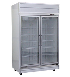 2 door glass chiller showcase