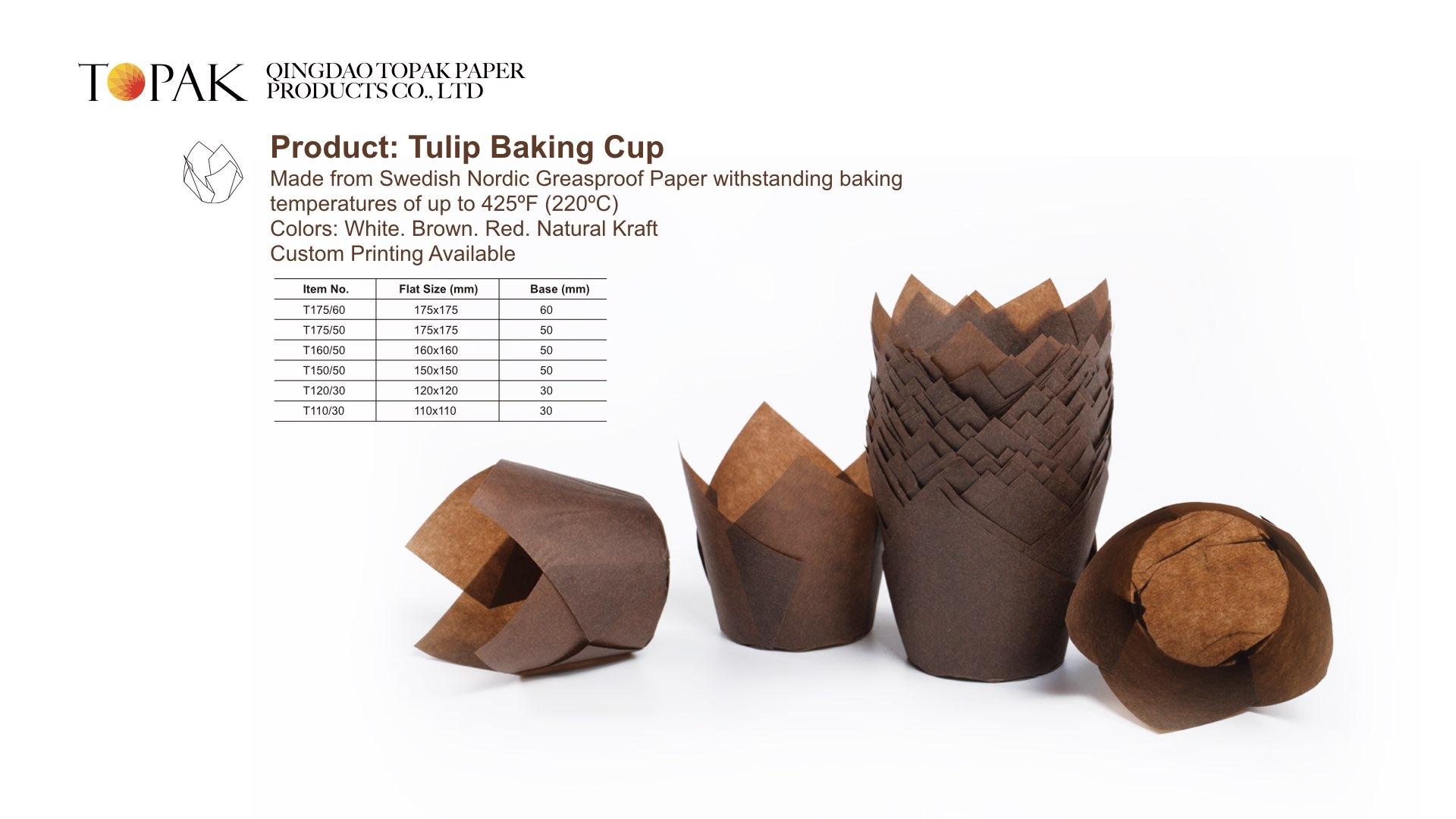 瑞典进口防油纸郁金香蛋糕杯出口欧美