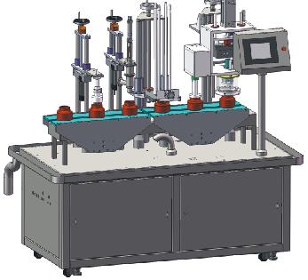 MC140型洗瓶灌装旋盖一体机