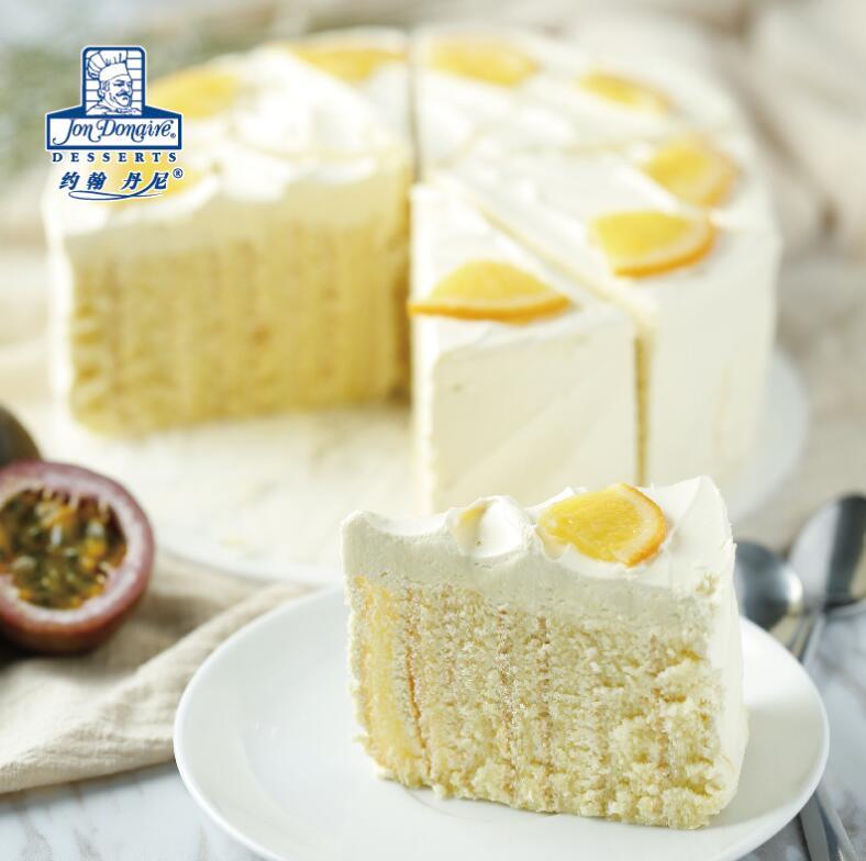 百香果香橙年轮慕斯蛋糕