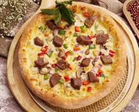 黑椒牛排披萨