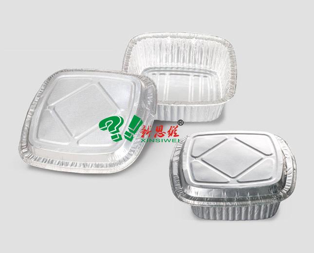 方形外卖铝箔煲