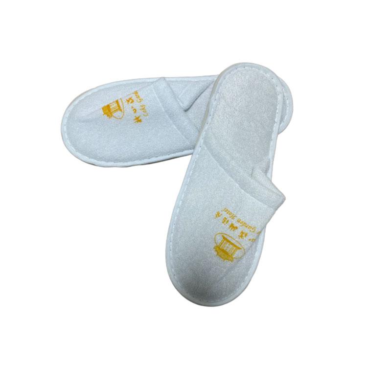 舒适轻便仿棉织带条包边外缝标款拖鞋