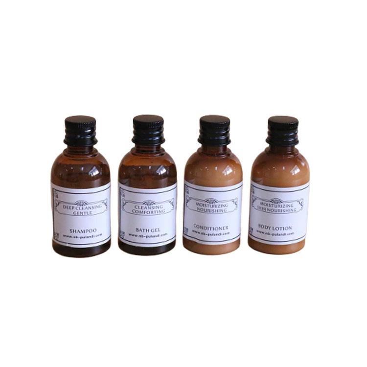 中高端酒店一次性洗护液体系列塑料瓶装供应 50ml*4