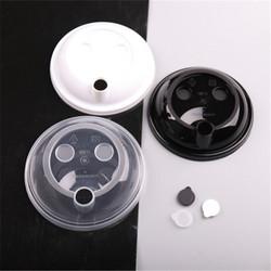 一次性90注塑盖透明奶茶杯盖