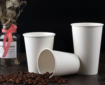 白色单层奶茶纸杯