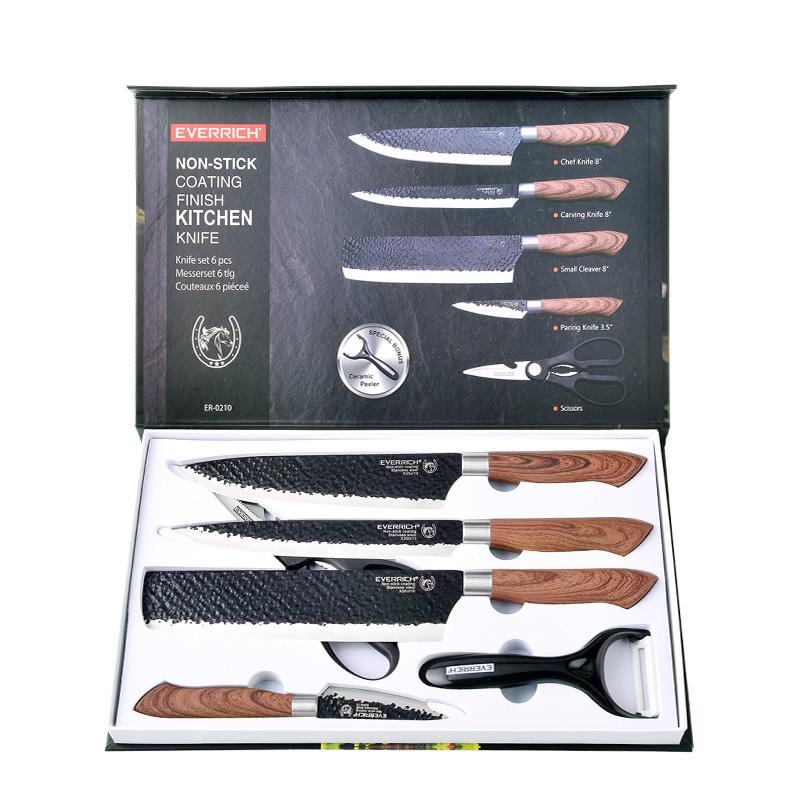EVERRICH刀具礼品套刀家用不锈钢菜刀礼品刀具六件套厂家直销