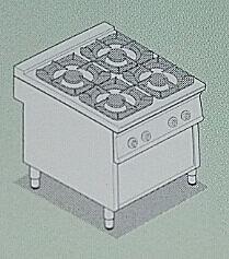 TECNOINOX90_EC4FG9钛克诺斯经济型燃气炉