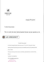 Le Creuset Authorization letter