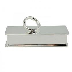 幸运金银器-镀银Q形牙签盒