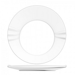 折纸浅式盘-荧光瓷