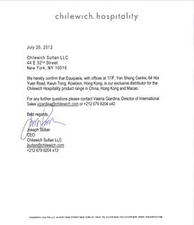 Chilewich Distributor Letter